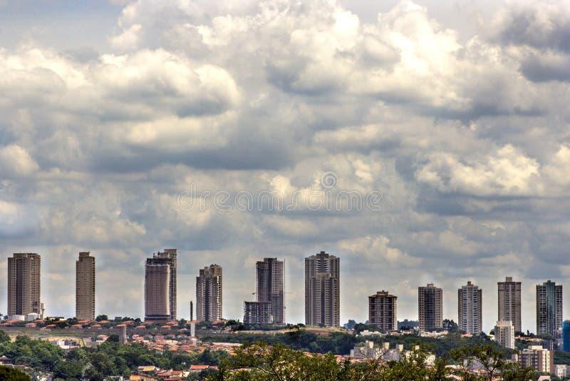 Urban skyline. Of Ribeirao Preto city in Brazil royalty free stock photography