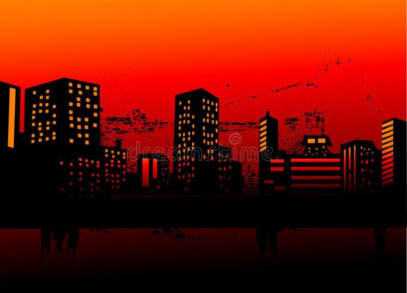 Urban skylines royalty free illustration