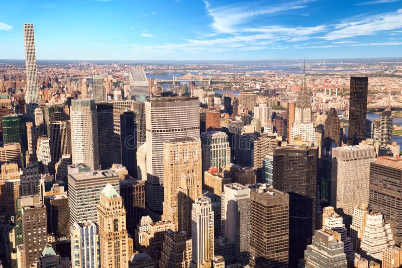 Urban skyscrapers in New York stock photography