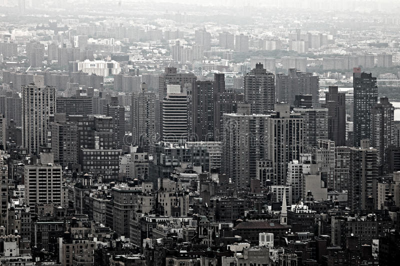 Urban Skyscrapers of New York City Skyline. Urban Skyscrapers New York City Skyline. Aerial Manhattan View royalty free stock photography