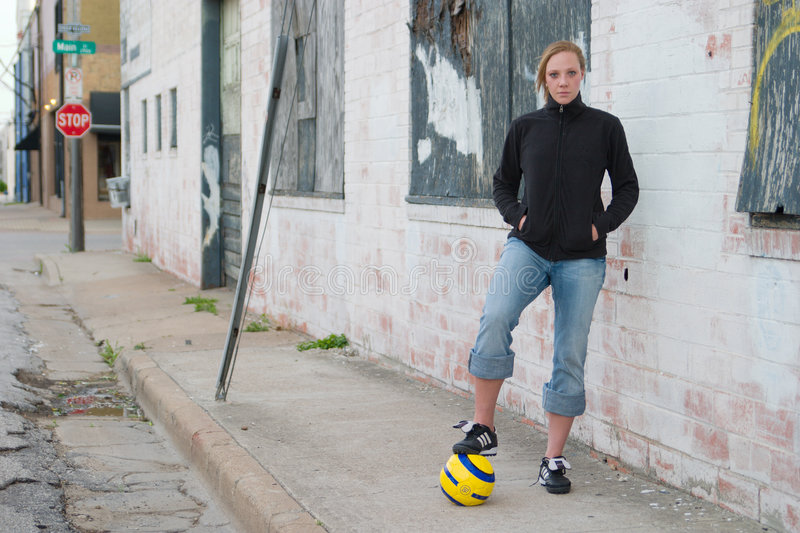 Download Urban Soccer Girl 2 stock photo. Image of game, serious - 2429904