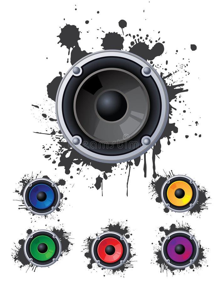 Urban speakers vector illustration