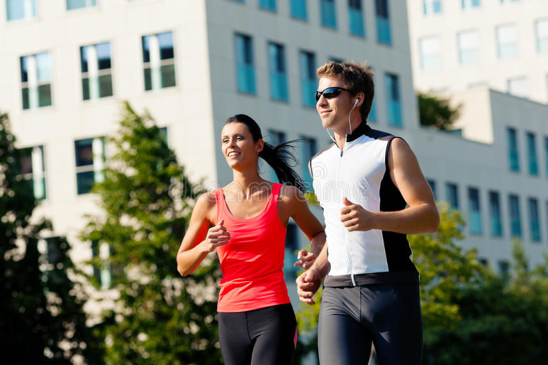 Urban sports - fitness in the city. On a beautiful summer day royalty free stock image