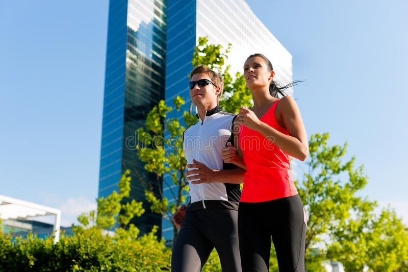 Urban sports - fitness in the city royalty free stock photography
