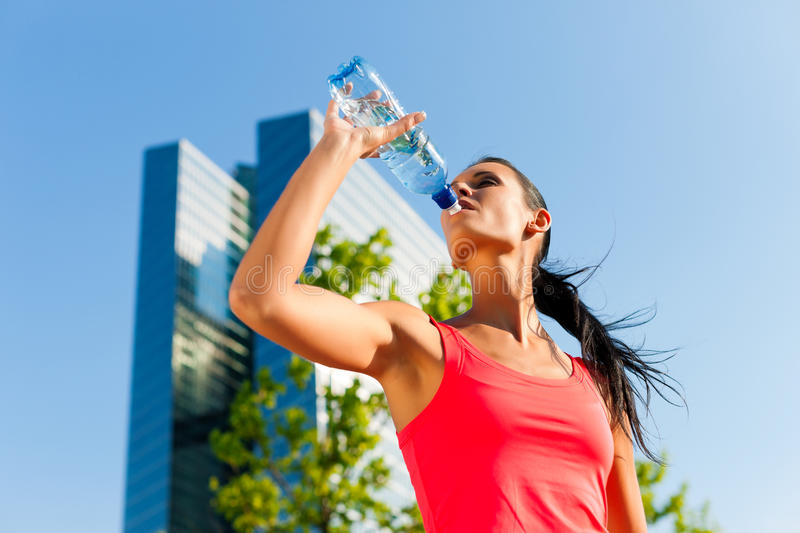 Urban sports - fitness in the city. On a beautiful summer day royalty free stock photo