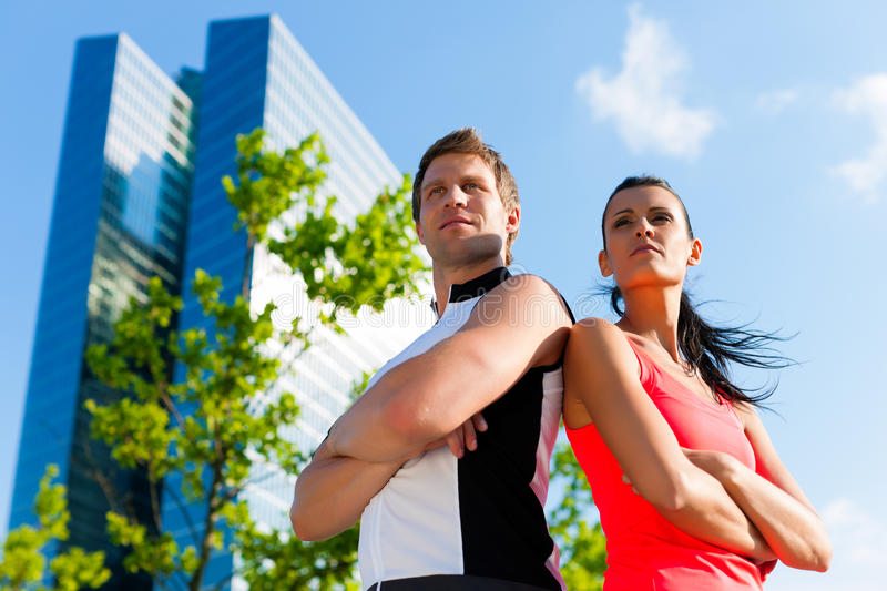 Urban sports - fitness in the city. On a beautiful summer day royalty free stock photos