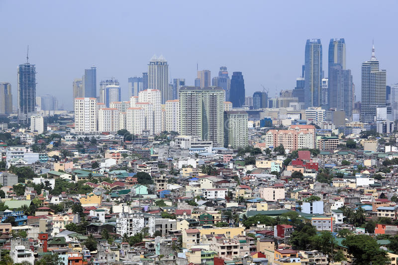 Urban sprawl makati city skyline manila philippines royalty free stock images