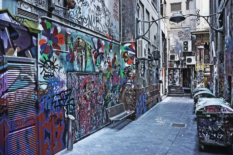 Urban street graffiti royalty free stock photos