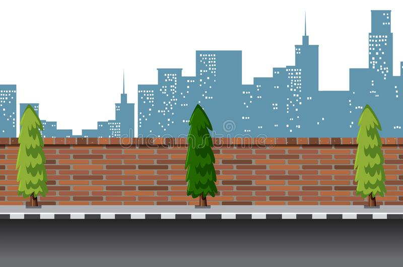 Urban street road scene royalty free illustration