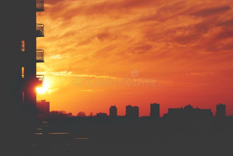 Urban Sunset royalty free stock photo