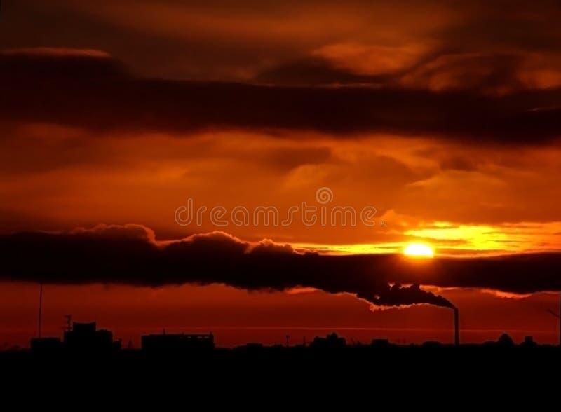 Download Urban Sunset2 stock photo. Image of chimneys, environment - 518378