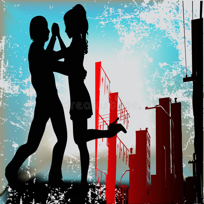 Download Urban Tango stock vector. Image of couple, club, advert - 10945641