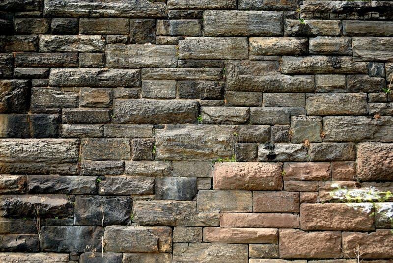 Urban Textured Stone Wall Stock Image