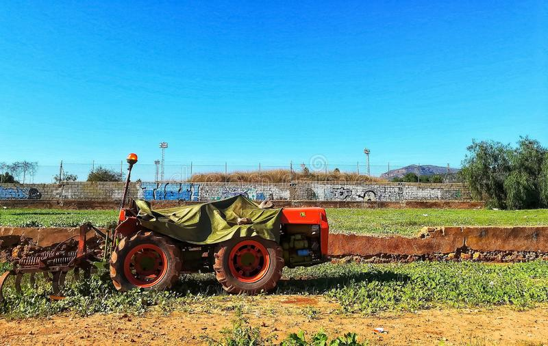 Urban tractor stock photography