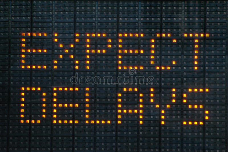 Urban Traffic Congestion Sign royalty free stock photo