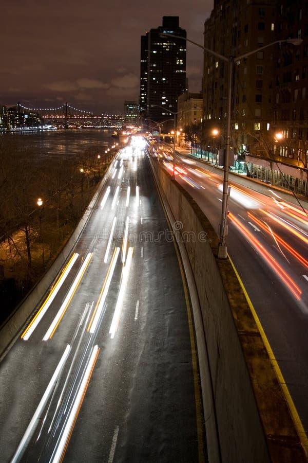 Urban Traffic at Night stock images