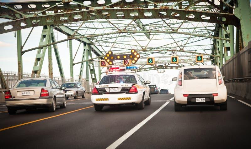 Montreal Urban trafikerar - ledaren arkivbild