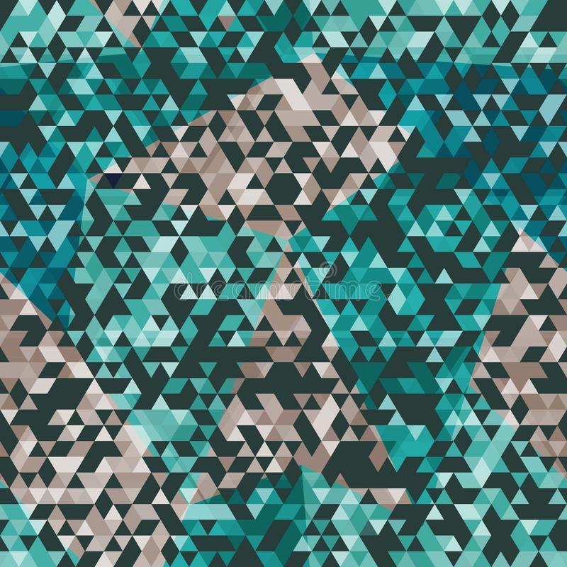Urban triangle seamless pattern stock illustration