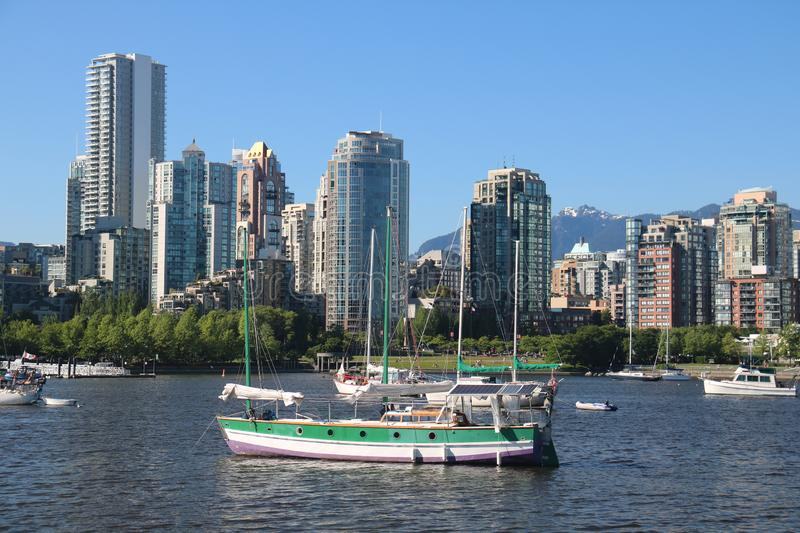 Urban Vancouver view cityscapes downtown yaletown stock photography