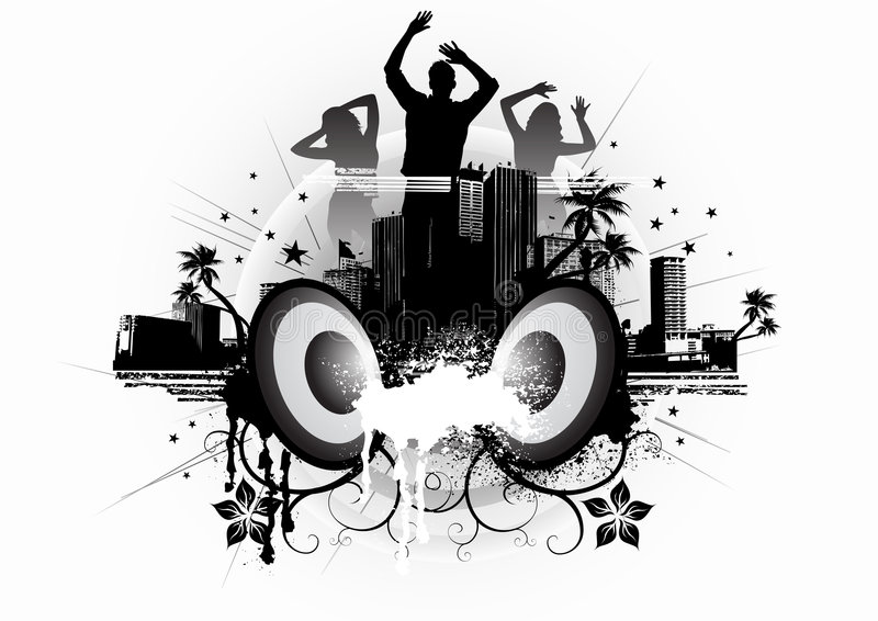 Urban Vapour Dance vector illustration