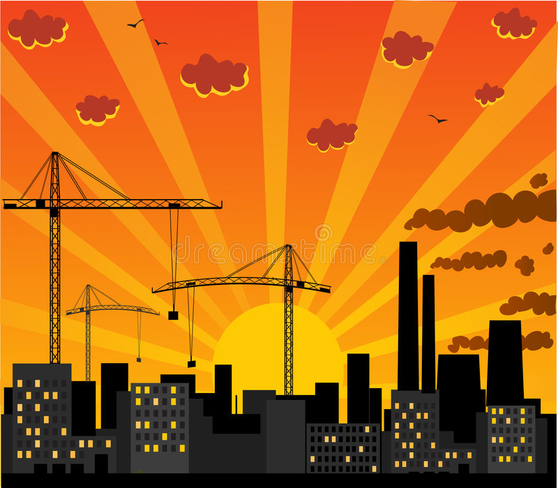 Download Urban view stock vector. Illustration of city, industry - 4340158