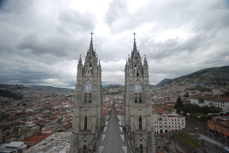 Urban view of Quito stock photos