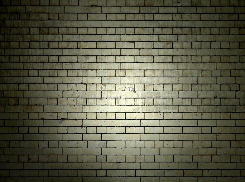 Brick Wall at Night royalty free stock image