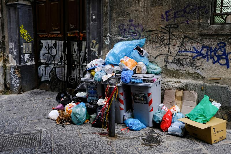 URBAN WASTE UNDER HOUSE stock images