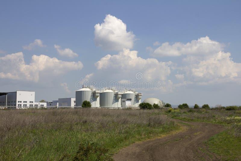 Sewage treatment plants stock photo