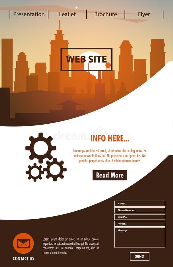 Urban website template vector illustration