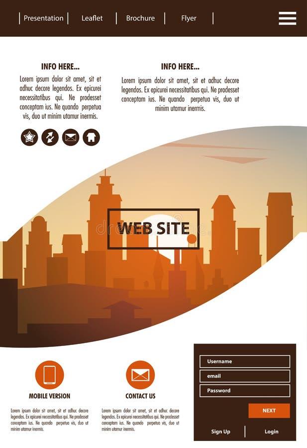 Urban website template royalty free illustration