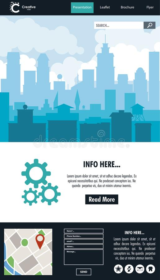 Urban website template stock illustration
