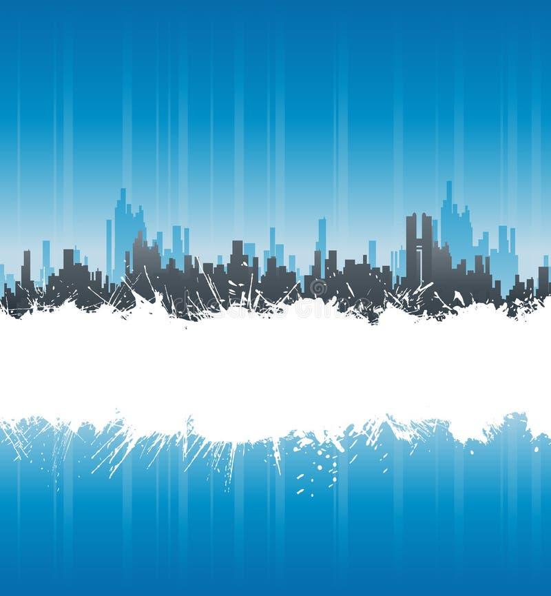 Urban White Splatter Stripe Background Stock Images