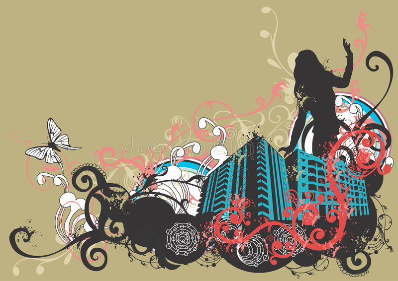 Download Urban woman stock vector. Image of graphic, city, town - 3225007