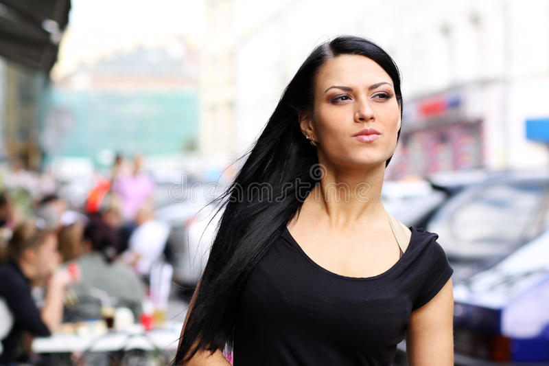 Download Urban young woman stock photo. Image of european, curly - 11555180