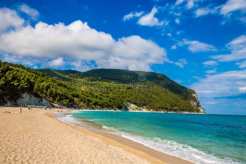 Urbani Beach - Sirolo, Ancona, Italy, Europe. Empty Urbani Beach - Sirolo, Ancona, Italy, Europe royalty free stock image