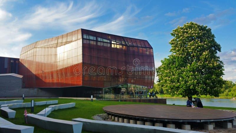 Urbanicarchitectuur, planetarium, Warshau, Polen stock foto