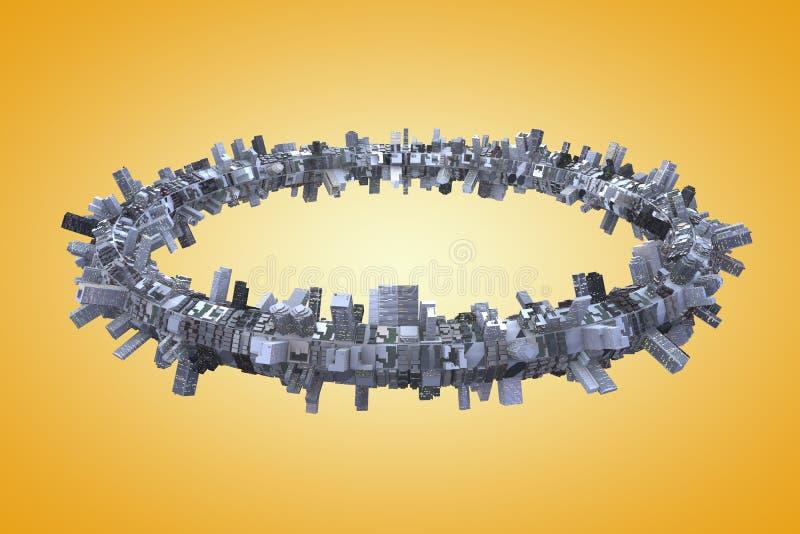 Urbanisatie stock illustratie