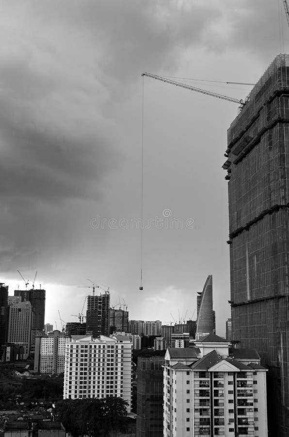 Urbanisatie en Modernisering stock foto