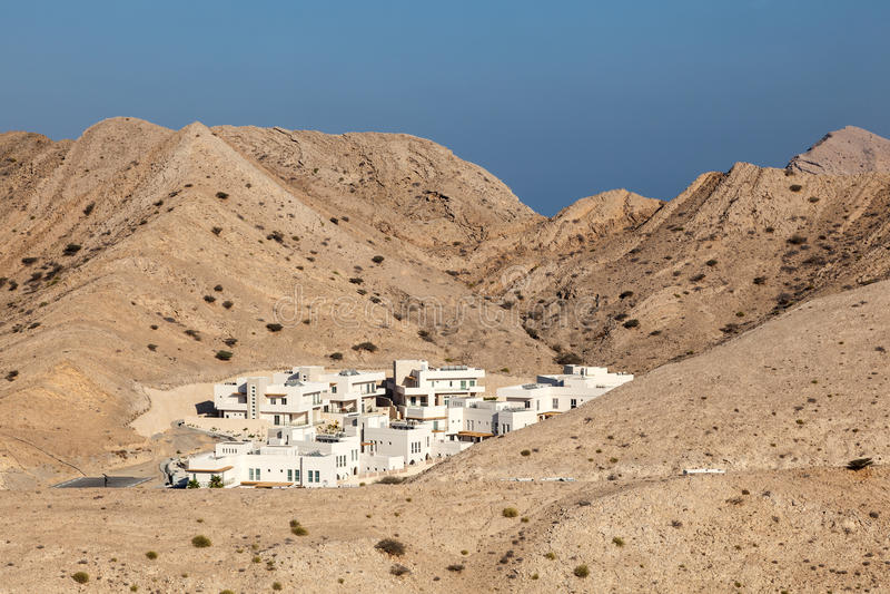 Urbanisatie in Muscateldruif, Oman royalty-vrije stock fotografie