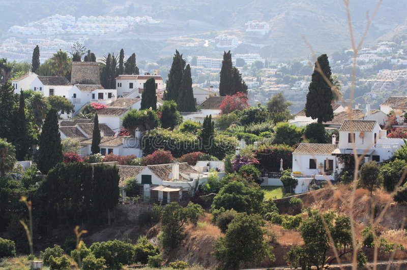 Urbanisatie San Nicolas (Granada Spanje) royalty-vrije stock afbeeldingen