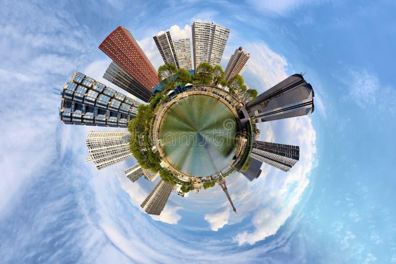 Urbanisatie van de planeet royalty-vrije stock afbeelding