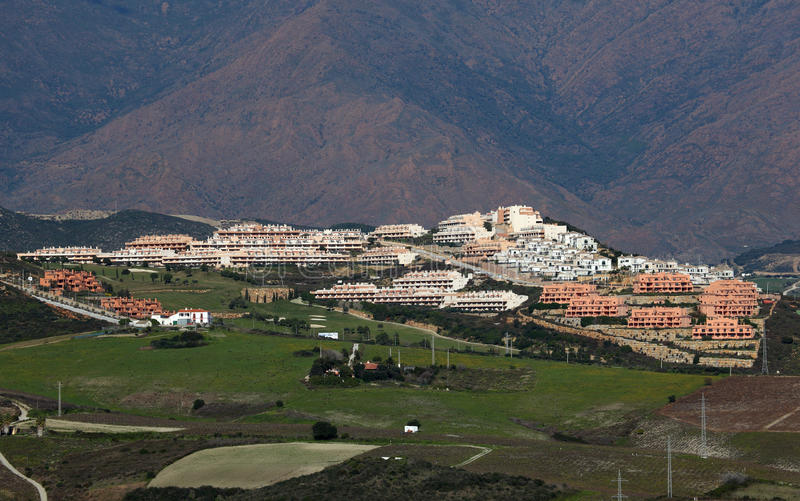 Urbanisatie in zuidelijk Spanje stock afbeeldingen