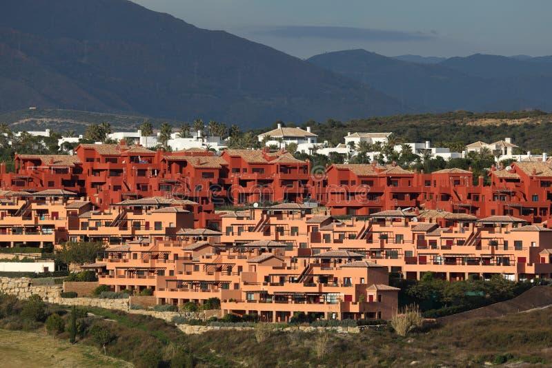 Urbanisatie in zuidelijk Spanje royalty-vrije stock foto