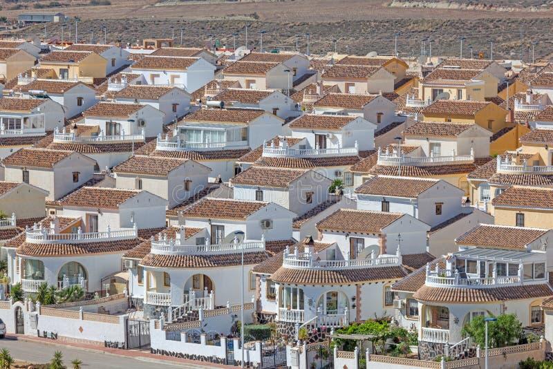 Urbanisation Camposol na Espanha fotografia de stock
