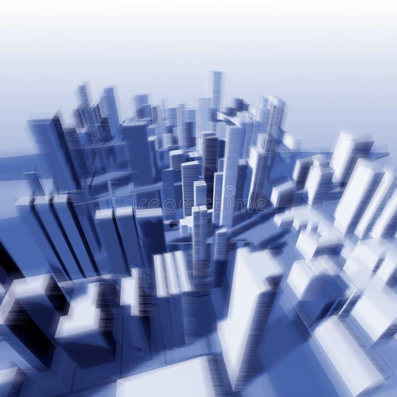 Urbanistisch landschap van hoogte van de vlucht van de vogel stock illustratie