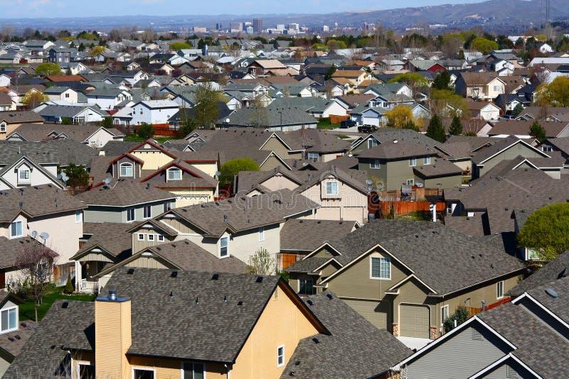 Urbanización irregular foto de archivo
