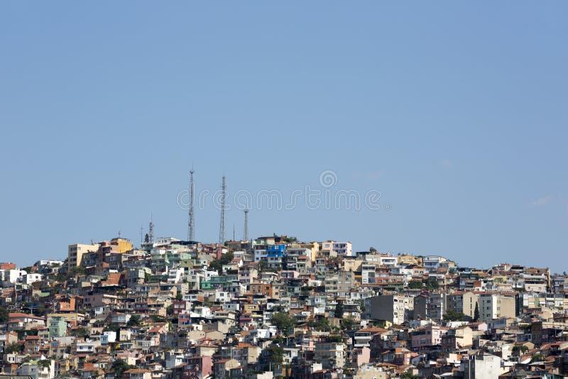 Urbanización irregular en Esmirna, Turquía imagen de archivo