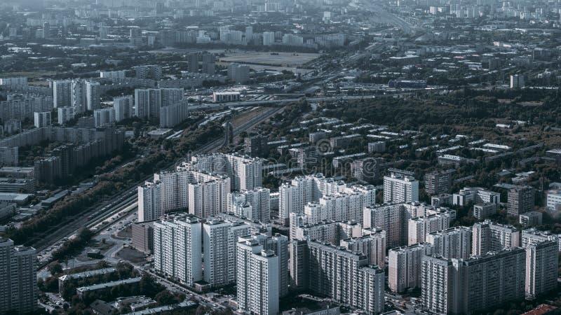 Urbanizado total residencial de un punto álgido imagen de archivo libre de regalías