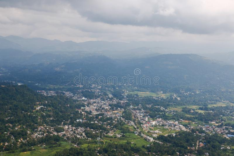 Urbanization of village. URBANIZATION OF RURAL AREA IN KANDY SRI LANKA royalty free stock image